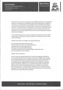 Programma 15 april 2012