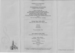 Programma 7 oktober 2012