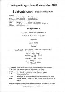 Programma 9 december 2012
