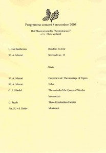 programma 8 november 2004