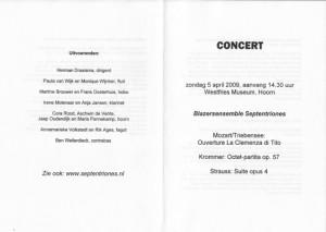 programma Hoorn 5 april 2009-1