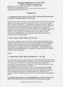 programma Schagen 2011