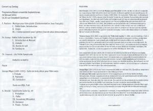 Programma Concert Castricum 2014-2