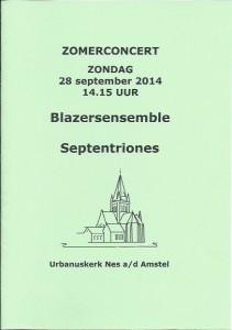 Poster Concert Nes 2014