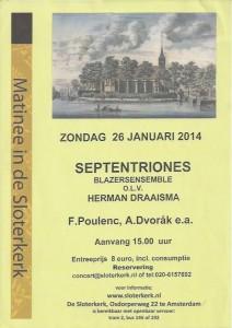 Poster Concert Sloterkerk 2014