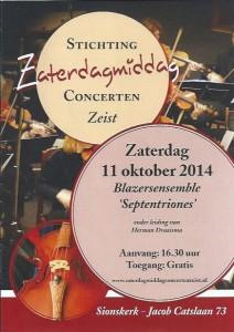 Poster Concert Zeist 2014